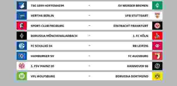 Rodada inicial do Campeonato Alemão terá Bayern x Leverkusen e mais 8 jogos - Reprodução