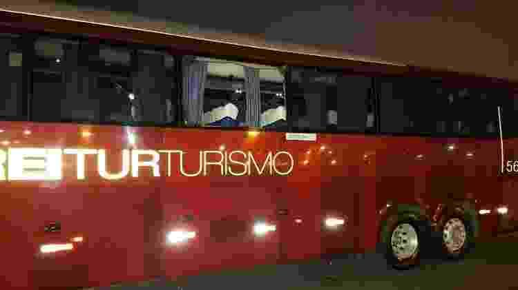 Ônibus do Independiente foi apedrejado na chegada ao Maracanã - Vinicius Castro/UOL Esporte - Vinicius Castro/UOL Esporte