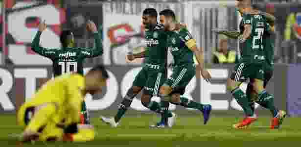 Palmeiras venceu o jogo de ida contra o Colo-Colo por 2 a 0 - REUTERS/Rodrigo Garrido