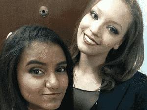 Rebecca Mariah (à dir.), atleta do Pinheiros, utilizou seu Instagram para prestar homenagem à Jackelyne da Silva (à esq.) - Reprodução/Instagram - Reprodução/Instagram