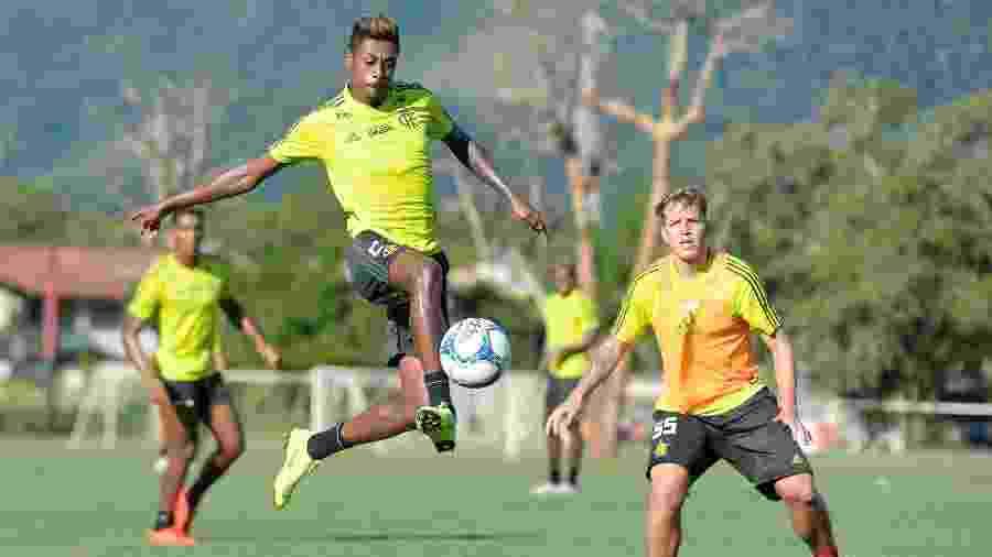 Bruno Henrique celebrou semana para trabalhar antes da partida contra o Athletico-PR, pelo Brasileiro - Alexandre Vidal / Flamengo