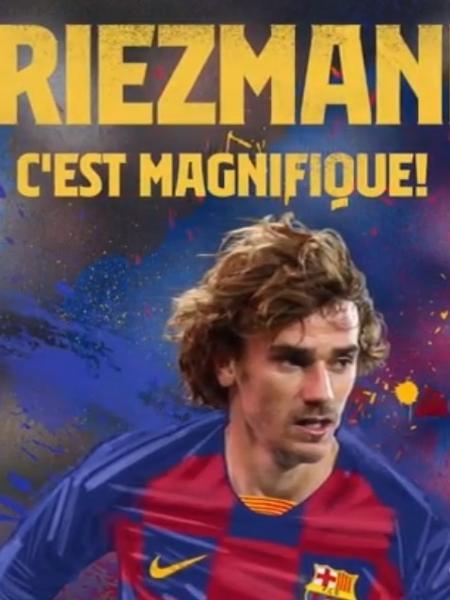 Griezmann é anunciado no Barcelona - Reprodução/Instagram