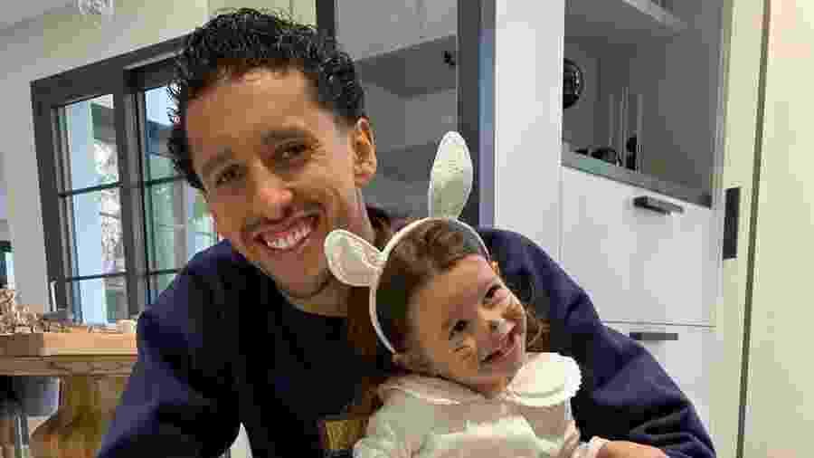 Marquinhos e a filha Duda - Reprodução/ Instagram