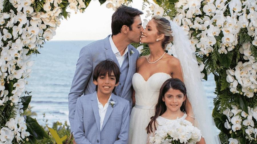 Kaká posta foto do casamento com Carol Dias ao lado dos filhos - Reprodução/Instagram