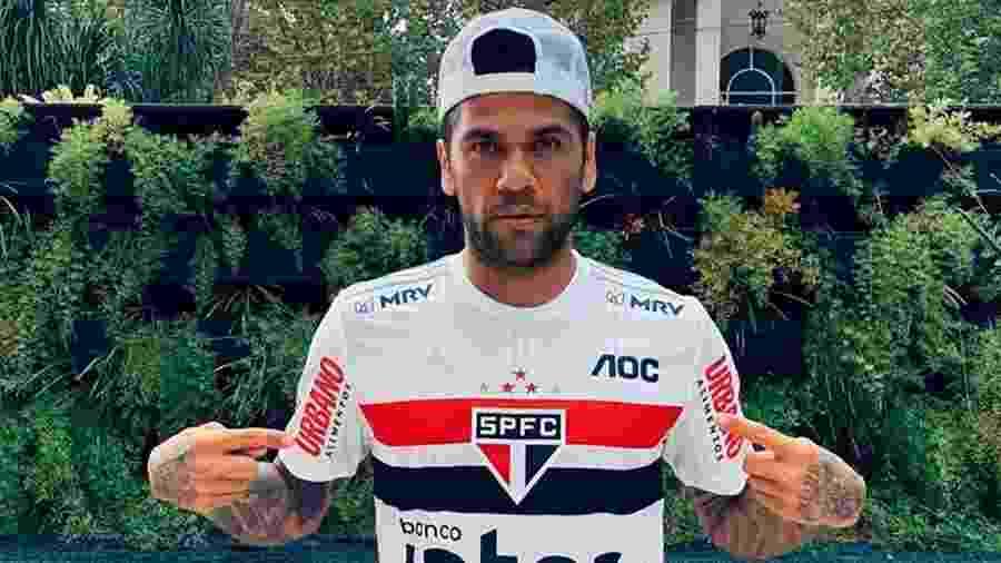 Daniel Alves, jogador do São Paulo - Divulgação