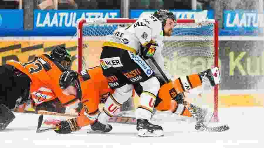 Final da liga finlandesa de hóquei - Divulgação