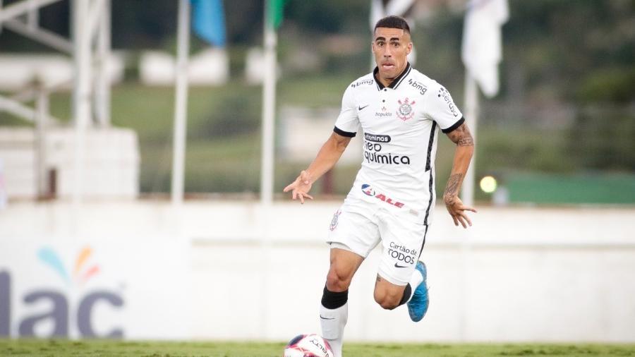 Gabriel em ação pelo Corinthians na estreia do Campeonato Paulista de 2021 - Rodrigo Coca/Agência Corinthians