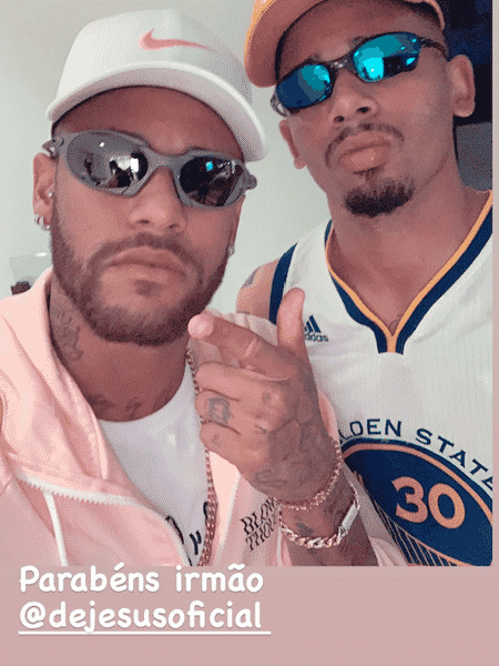 Neymar Jr dá os parabéns para Gabriel Jesus  - Instagram - Instagram