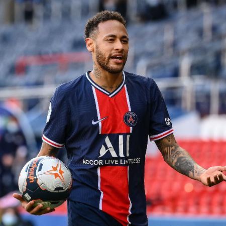 Neymar, do PSG, foi eleito um dos melhores atacantes no Campeonato Francês 2020-21 - FRANCK FIFE / AFP