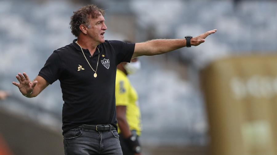 Cuca evita falar em favoritismo do Galo no clássico com o Cruzeiro, marcado para o próximo domingo - Pedro Souza/Atlético-MG