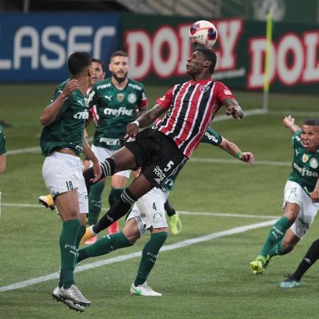 Palmeiras e São Paulo se enfrentaram pela primeira fase do Campeonato Paulista, no Allianz Parque - Rubens Chiri / saopaulofc.net