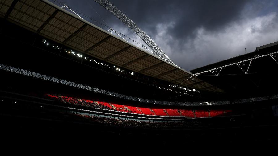 Fases finais da Eurocopa estão ameaçadas de não ocorrerem em Wembley por causa do avanço da variante delta no Reino Unido - Marc Atkins/Getty Images