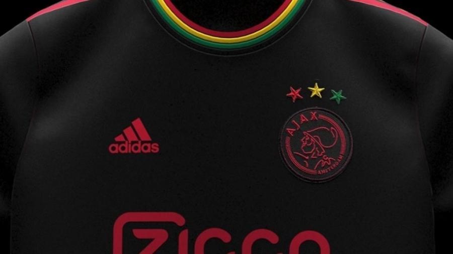 Camisa traz detalhes com cores do reggae; relação entre clube e cantor e surgiu de maneira aleatória em 2008 - Reprodução/FootyHeadlines