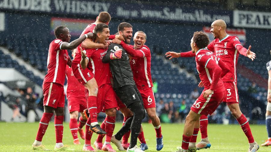 Alisson fez o gol da vitória do Liverpool contra o West Brom - James Williamson - AMA/West Bromwich Albion FC via Getty Images