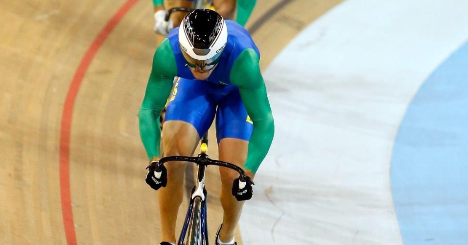 Revezamento brasileiro no ciclismo de velocidade por equipes ficou na terceira colocação na prova classificatória