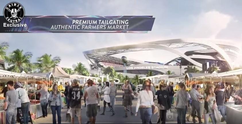 Projeto do Los Angeles Stadium é para 65 mil pessoas e aposta na tecnologia, mas também prevê espaço para uma feira para comidas locais