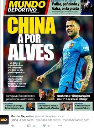 A capa do Mundo Deportivo de terça (09)