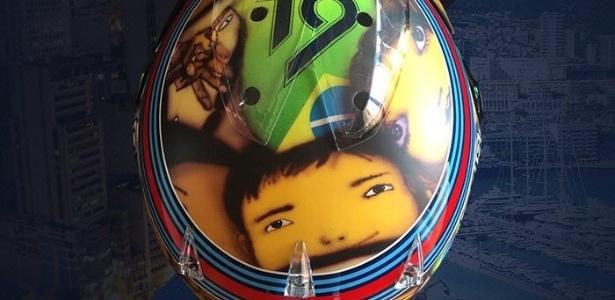 Massa foi um dos que trocou o desenho do capacete ao longo do ano - Reprodução/Twitter