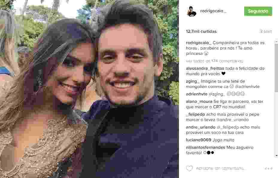 A dentista Tayane Carvalho namora o zagueiro são-paulino Rodrigo Caio - Reprodução/Instagram