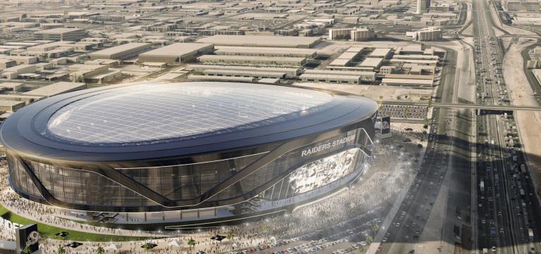 Imagens do possível estádio dos Raiders em Las Vegas, onde o time deixaria de ser Oakland Raiders e passaria a ser chamado Las Vegas Raiders