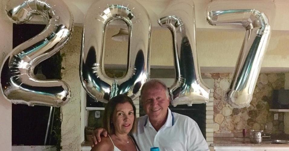 Ídolo do Flamengo, Zico curtiu a chegada de 2017 junto com a esposa Sandra
