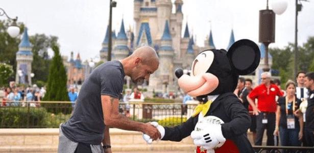 Em 2017, Mickey, personagem da Disney, foi garoto propaganda da competição