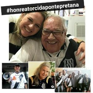 Camila Polis, sensibilizada com o avô Eduardo, é uma das idealizadoras do movimento; torcedor diz que 'não morreria sem ver a Ponte campeã'