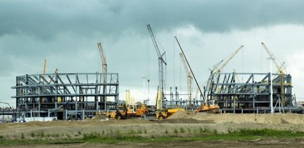 Estádio em Kaliningrado  em obras para a Copa do Mundo - Fifa / Reprodução