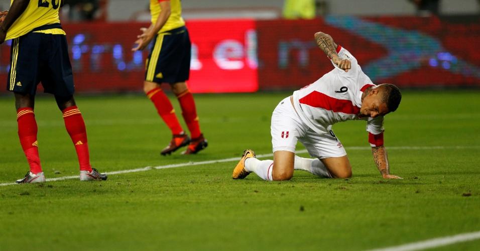 Guerrero lamenta chance perdida pelo Peru diante da Colômbia