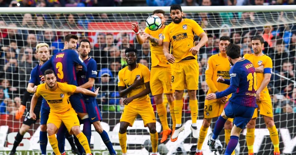 Lionel Messi gol de falta Atlético de Madri Barcelona