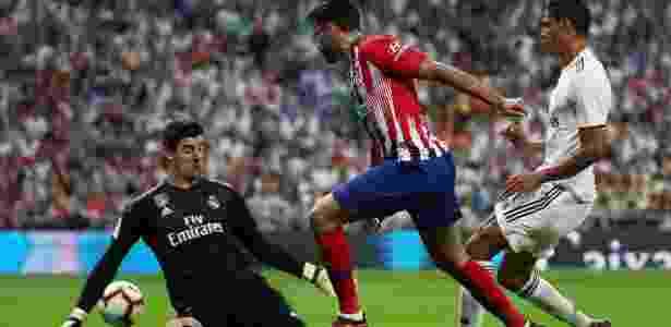 Courtois salvou o Real Madrid no primeiro tempo - REUTERS/Sergio Perez - REUTERS/Sergio Perez