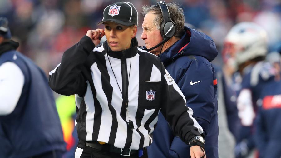 Sarah Thomas será 1ª mulher a atuar na arbitragem do Super Bowl - Maddie Meyer/AFP