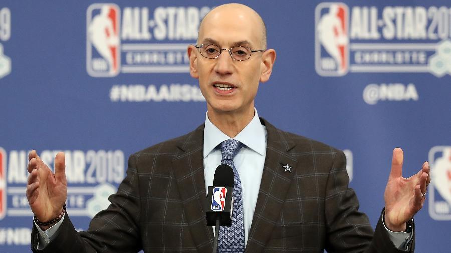 Adam Silver, comissário da NBA, diz que programa pode criar mobilidade econômica substancial dentro da comunidade negra - STREETER LECKA / GETTY IMAGES NORTH AMERICA / AFP
