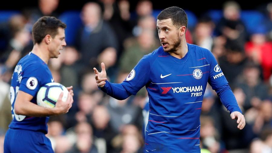 Hazard marca gol nos acréscimos e evita derrota do Chelsea no Stamford Bridge - DAVID KLEIN/REUTERS