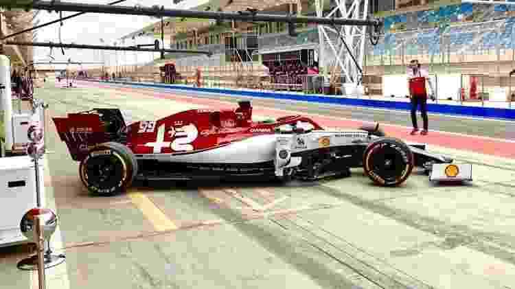 Giovinazzi vem sofrendo com muitos problemas técnicos na Alfa - @alfaromeoracing/Twitter