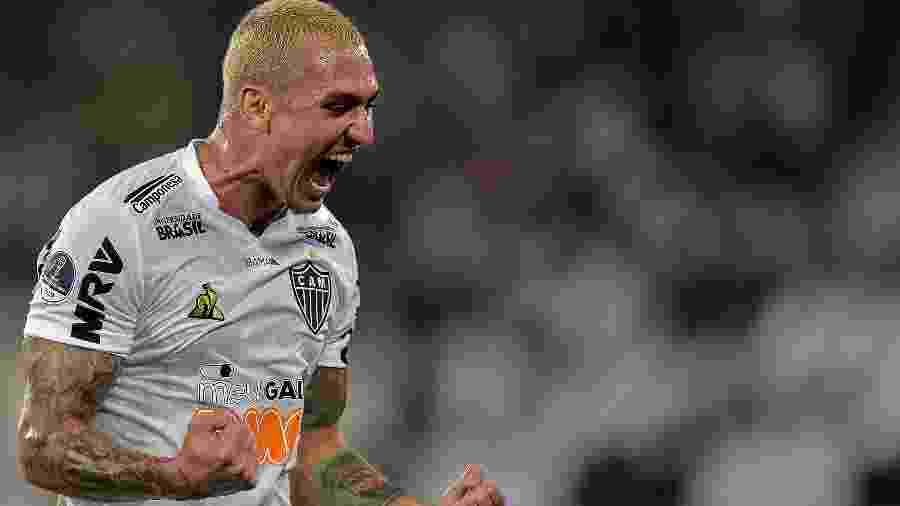 Meia do Atlético-MG, Vinicius comemora gol contra o Botafogo pela Copa Sul-Americana - Thiago Ribeiro/AGIF