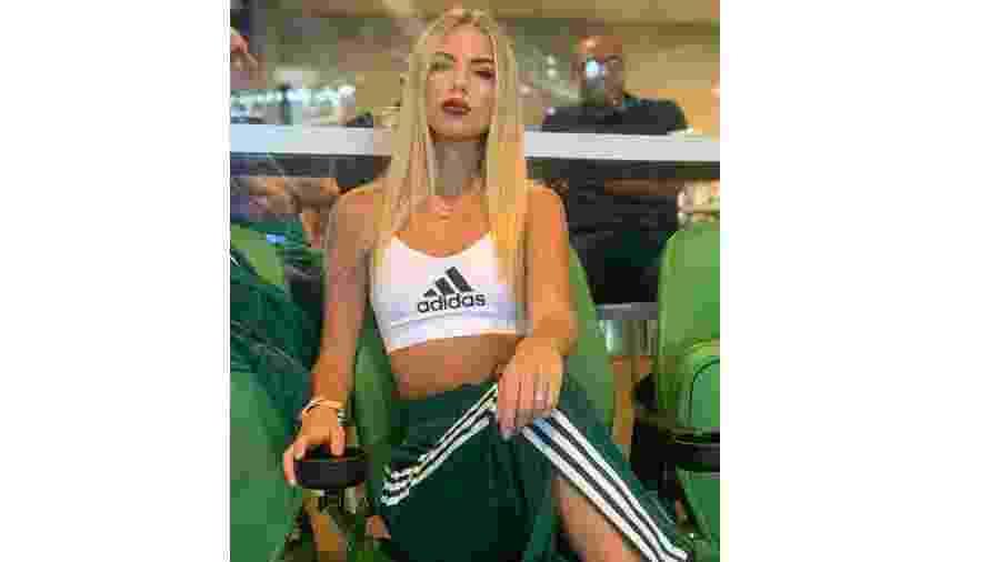 Ekaterina Dorozhko, mulher de Luiz Adriano, atacante do Palmeiras - Reprodução/Instagram