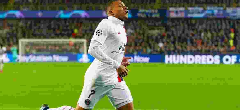 Mbappé fez três gols na goleada do PSG sobre o Club Brugge - TF-Images/Getty Images