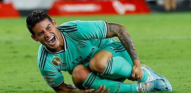 Meia do Real Madrid | James Rodríguez deve perder restante do ano devido a lesão no joelho