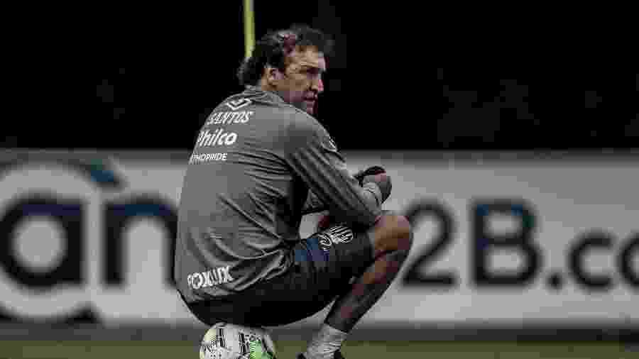 Cuca observa treino do Santos no CT Rei Pelé - Ivan Storti/Santos FC