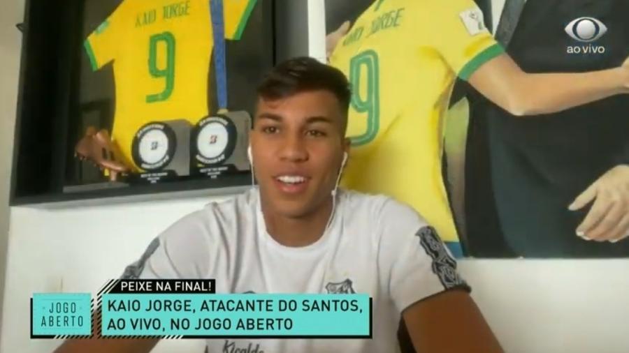 Kaio Jorge vê Santos superior ao Boca e prevê clássico disputado contra o Palmeiras - Reprodução/Band
