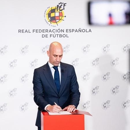 Luis Rubiales, presidente da Real Federação Espanhola de Futebol  - Divulgação