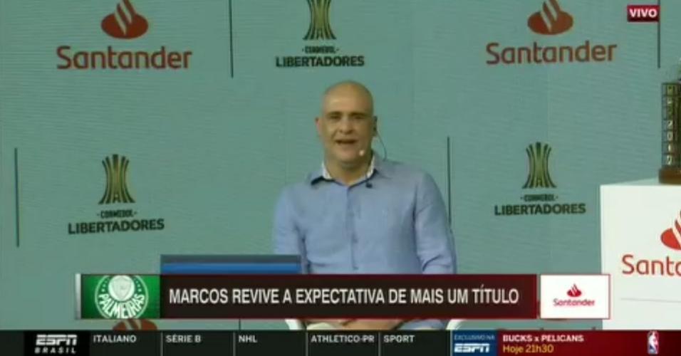 Marcos, ex-goleiro do Palmeiras, em evento da Conmebol