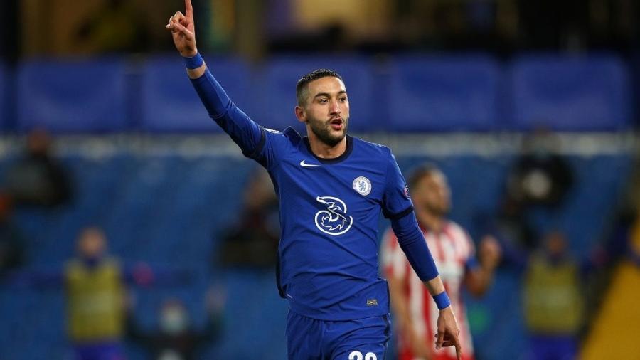 Hakim Ziyech perdeu espaço com a chegada de Tuchel - Chris Lee - Chelsea FC/Chelsea FC via Getty Images
