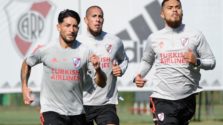 Casco, Maidana e Díaz treinam pelo River Plate - Divulgação River Plate