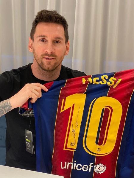Camisa de Lionel Messi é leiloada por R$ 60 mil - Instagram