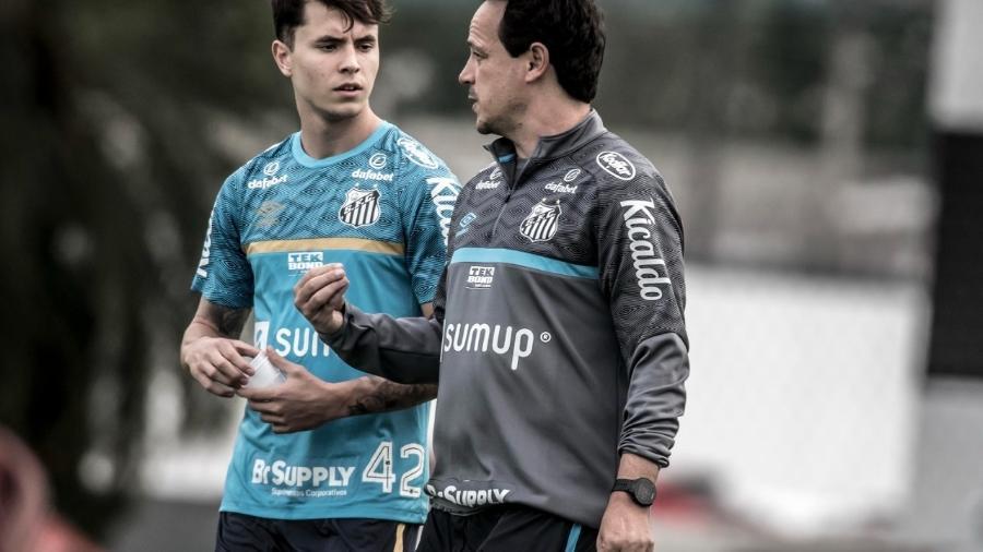 Vinicius Zanocelo conversa com Fernando Diniz no CT - Reprodução/Instagram