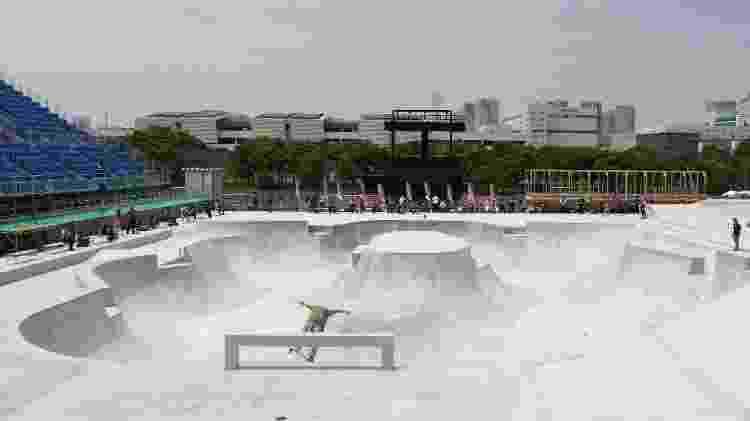 Pista de skate na modalidade park, que será usada pelos atletas em Tóquio - Stanislav Kogiku/SOPA Images/LightRocket via Getty Images - Stanislav Kogiku/SOPA Images/LightRocket via Getty Images
