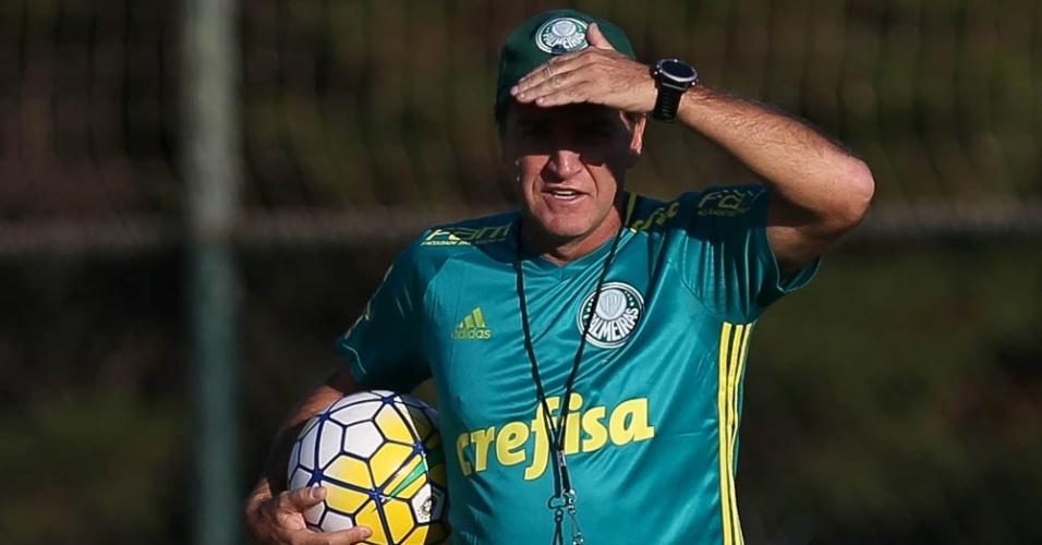 Cuca comanda treino do Palmeiras na Academia de Futebol