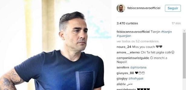 Cannavaro conheceu as instalações do Tianjin Quanjian nesta quinta-feira (09)